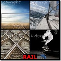 RAIL- 4 Pics 1 Word Answers 3 Letters