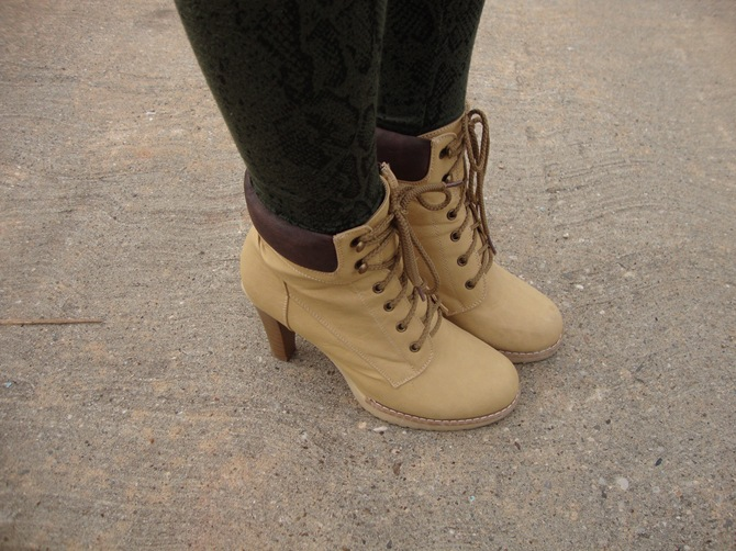 heeled fake timberlands