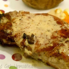 Pan Seared Pork Chops with Mustard Cream Sauce