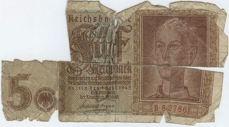 German Bank Note 1942 Front