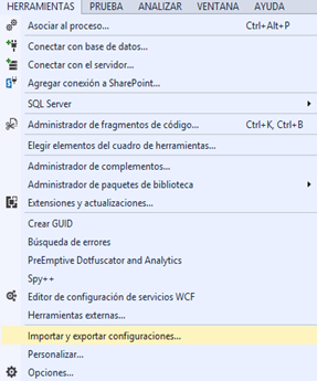 configuracion de visual studio