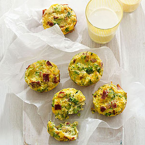 Mini Bacon-Broccoli Quiches