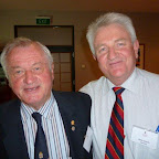 Fleurieu Dinner Convenor, Andrew Jeffery with Peter Crouch