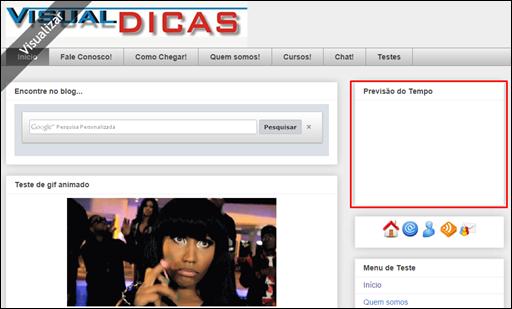 Como instalar um Widget no seu Blog -(Blogger) - Visual Dicas
