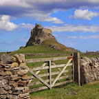 the castle on Lindisfarne (Holy Island)