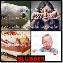 BLUBBER- 4 Pics 1 Word Answers 3 Letters