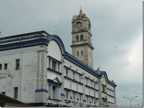 Clock tower at CustomDepartment at www.penang365.com