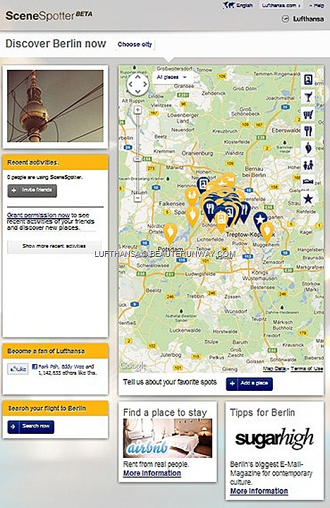 Lufthansa Airline SceneSpotter new facebook explore the new sights, culinary highlights and nightlife shared by travellers for over 20 of Lufthansa's European destinations locals insider travel tips