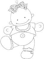 Baby03a Dibujos para calcar o colorear bebes