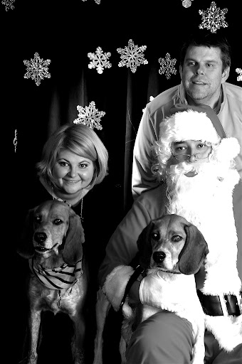 Shana and Glenn took their precious pups, Penny and Cooper, to see Santa.  We hope you all get what you want for Christmas!