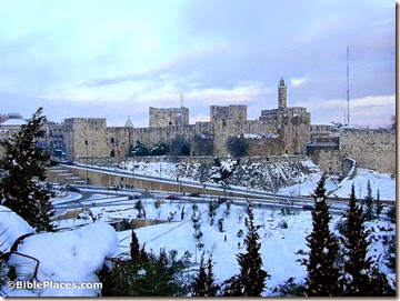 Citadel of David with snow from west, tb012800201