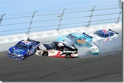 2012 Daytona Feb NNS leaders accident