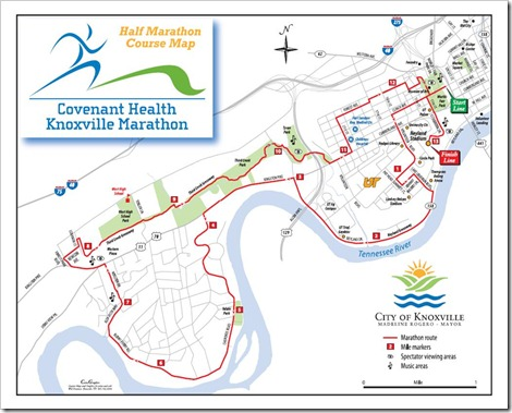 Knoxville Half Course Map