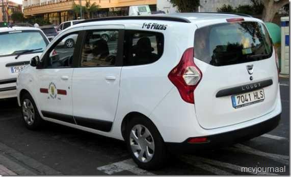 Taxi Tenerife Dacia Lodgy 02