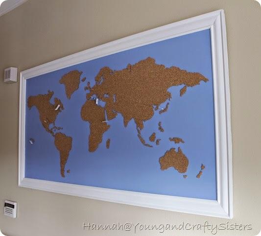 cork board world map 11
