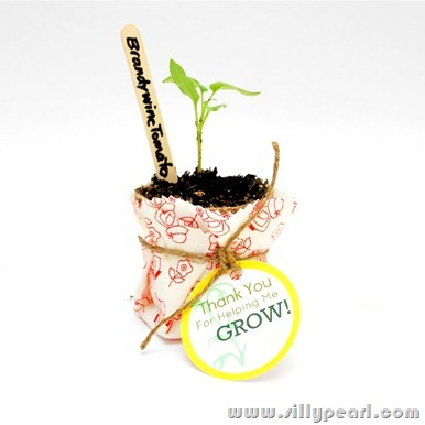 Thank You For Helping Me Grow Free Printable Seedling Teacher Gift Tag by The Silly Pearl