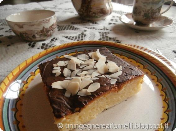 japanese cotton cheesecake torta dolce cioccolato fondente mandorle almonds dark chocolate