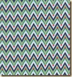 Peddle Pushers Navy and Green Chevron