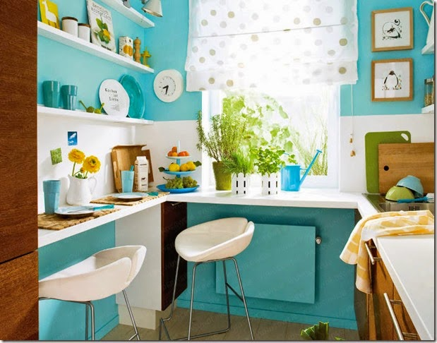 turquoice blue modern kitchen wunderweib dot de