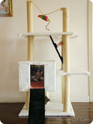 diy simple cat tree 6