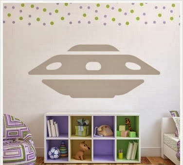 Cute What us great about Icon Wall Stickers is that their stickers e in a variety of sizes including extremely large graphics like this cool UFO spaceship
