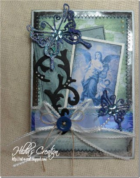 blue vintage angel front