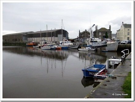 Glasson harbour between the sea lock and canal basin. Built in 1787 for ships that were too big to navigate to Lancaster via the river Lune.