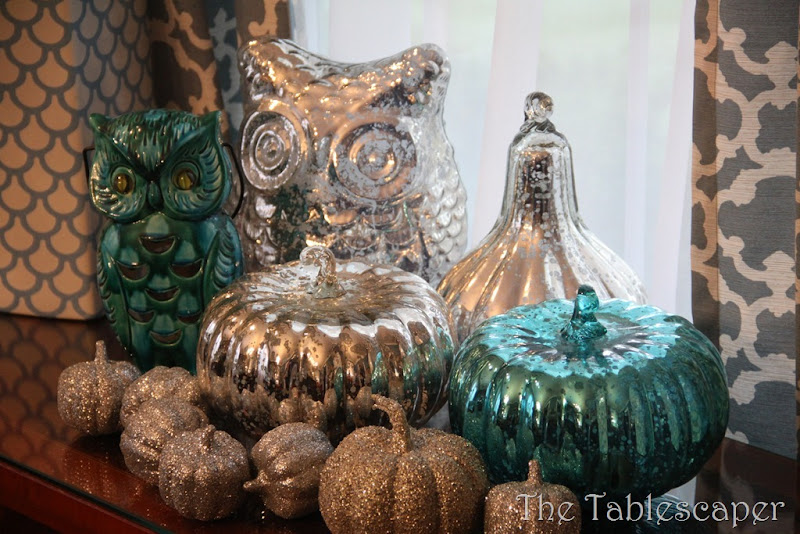 Fall Metallic Dining room 041