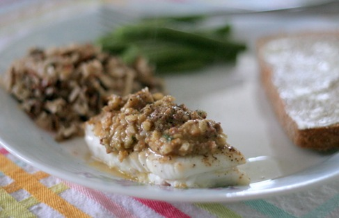 pan roasted fish with relish