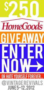 Homegoods Giveaway at Vintage Revivals