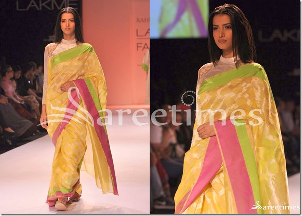 Rahul_Mishra_Yellow_Saree