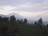 Cikuray and Papandayan from Panyingkiran between Wanaraja and Talagabodas (Daniel Quinn, June 2010)