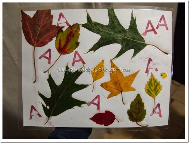 A is for Autumn {Preschool Alphabet}