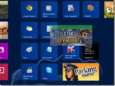 Windows 8 spostare di posizione le piastrelle