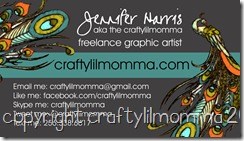 crafty business card front