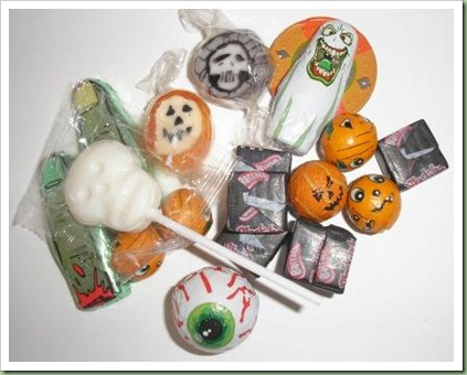 Halloween sweets candy