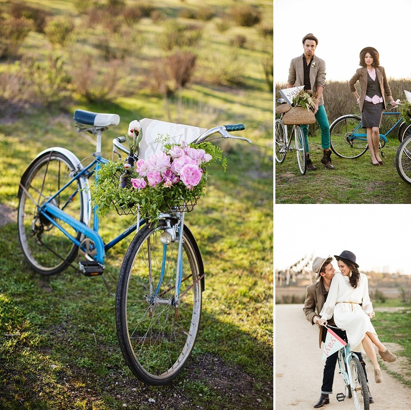 9 OakandtheOwl Hipster Bike Wedding