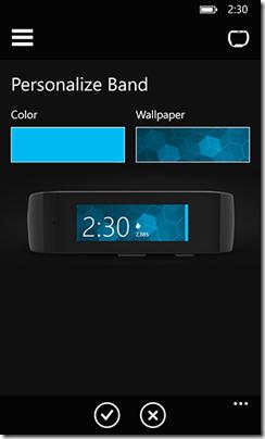 Microsoft Band Personalization