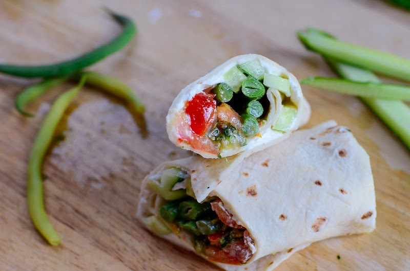 gf green bean cucumber wrap-12358