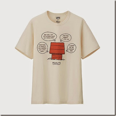 Uniqlo Peanuts Graphic Short Sleeve T Shirt Man White