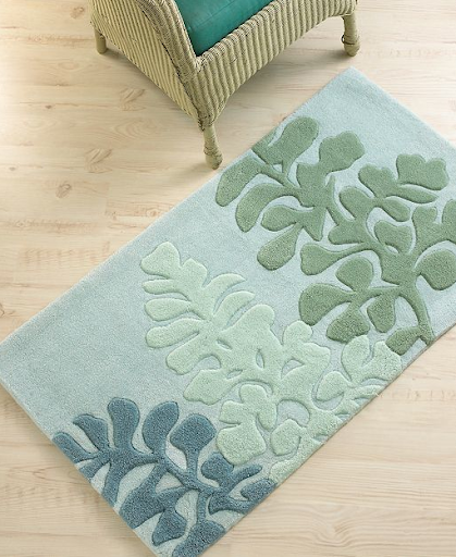 This bath mat from the Martha Stewart for Macy's collection is floral, coastal and earthy. The muted greens and blues are so relaxing. (www.macys.com)