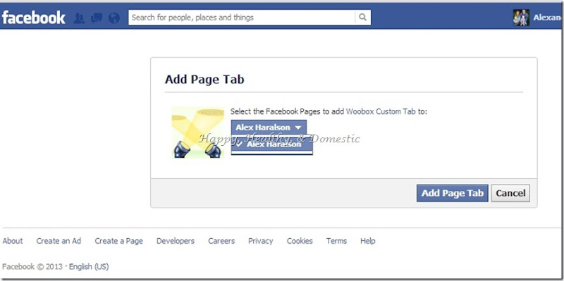 10 Custom FB app tabs add another tab select page