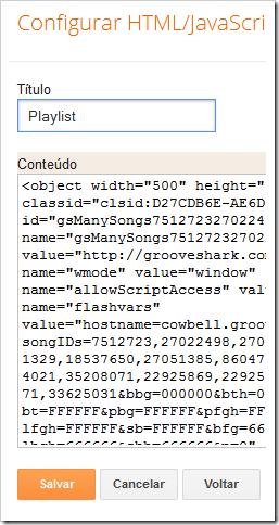 Configurar widget
