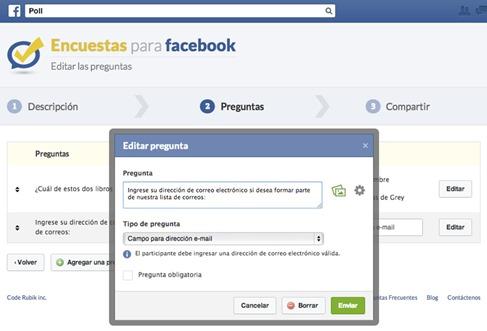 Crear encuestas personalizadas en Facebook