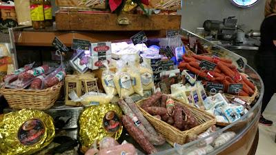 Italian store, Italian food, salami