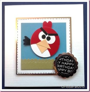 Angry Bird Birthday card