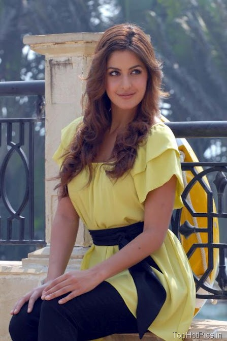 Katrina Kaif Sweet Photos in Short Yellow Dress 6