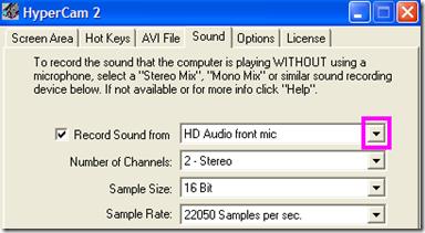 HyperCam 2 Sound