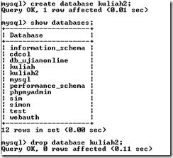 menghapus database
