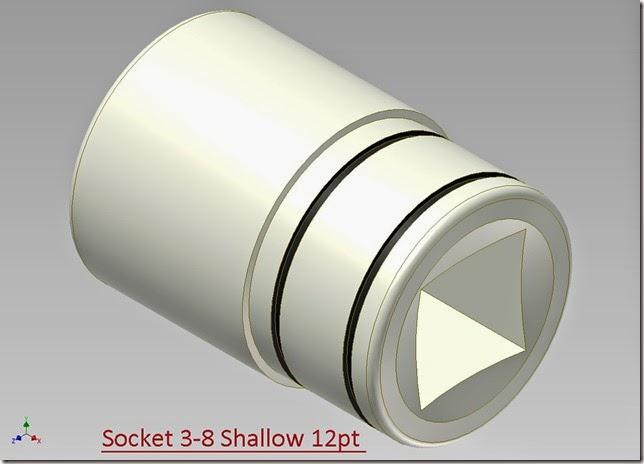Socket 3-8 Shallow 12pt